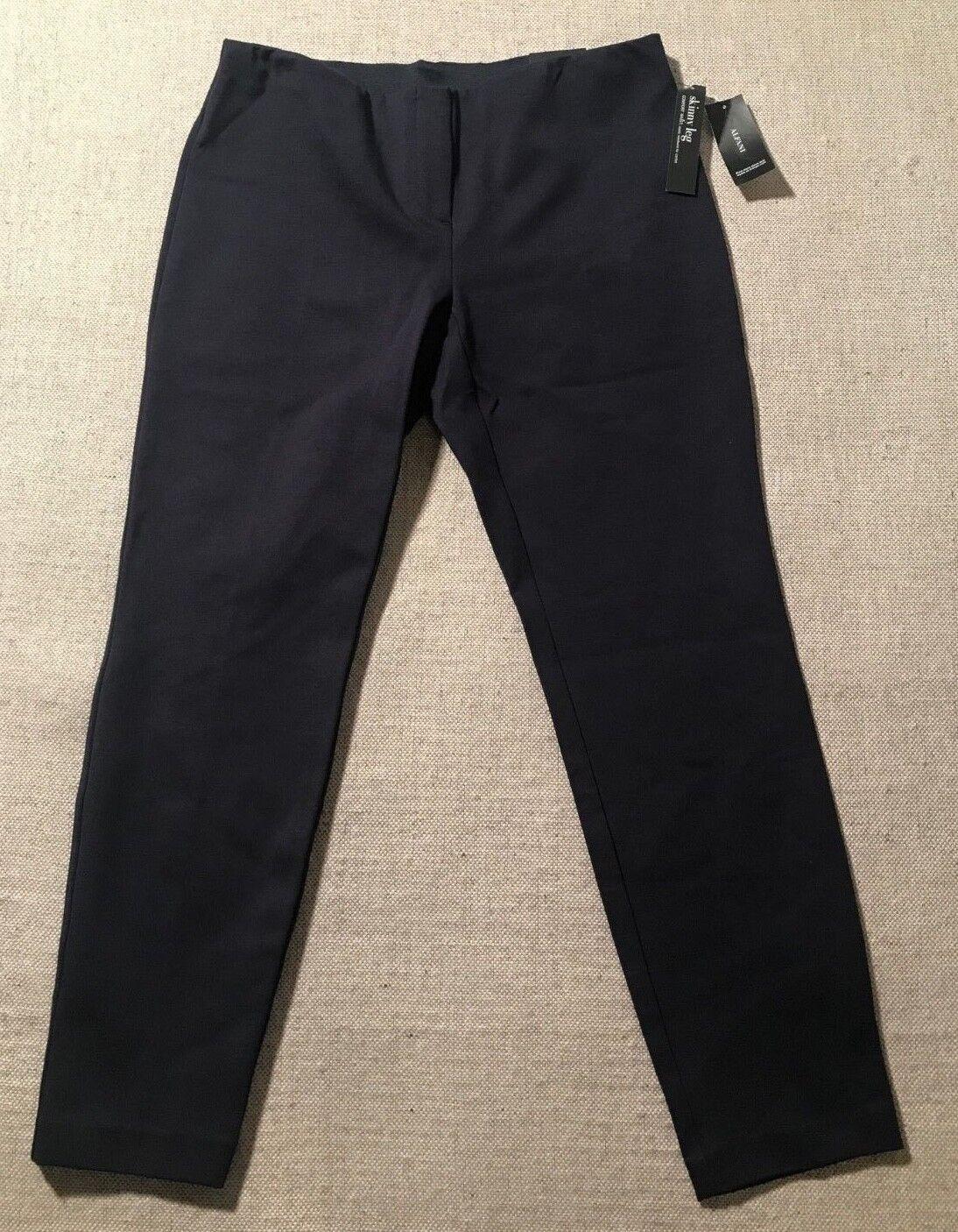 69.50 ALFANI Women's Skinny Leg Comfort Waist Nylon Blend Capri Size 10  B7
