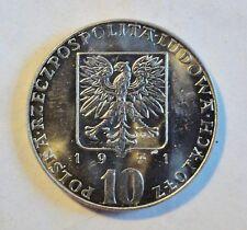 """Polonia/Poland - 10 zIotis 1971 FAO """"Fiat panis-lo voy a pan"""" stgl/UNC (1850"""