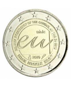 """2 euro commémorative Belgique 2010 """" Présidence UE """"  NEUVE UNC"""