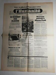 N384-La-Une-Du-Journal-L-039-humanite-8-janvier-1979-le-sommet-des-alignes