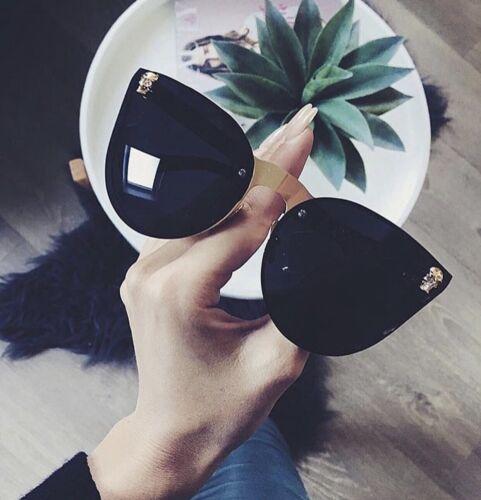 Occhiali da sole neri TESCHIO Cateye AMORE Designer Celebrity azienda inglese marbs .11