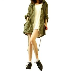 Womens-Casual-Warm-Jacket-Army-Green-Military-Parka-Trench-Hooded-Coat