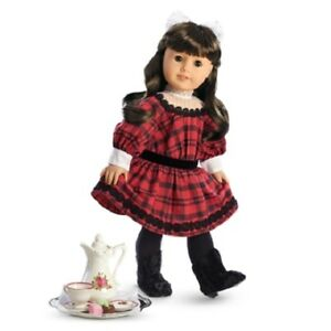 American Girl Samantha HOLIDAY SET dress faux food tea set Christmas   NO DOLL