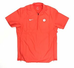 c17d0a1cca3b Image is loading Clemson-Tigers-Nike-Short-Sleeve-Lightweight-Coaches-Zip-