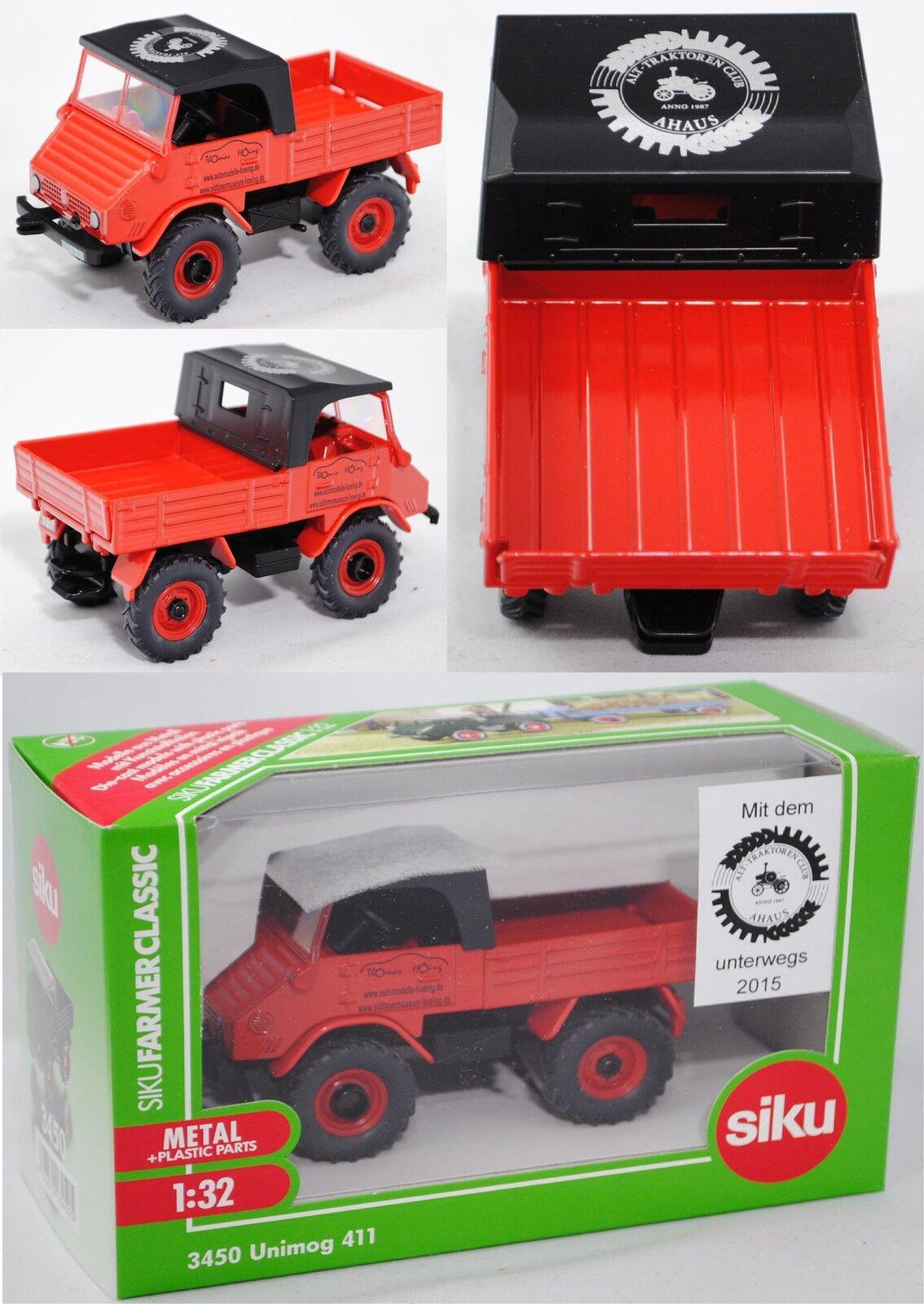 Venta en línea precio bajo descuento Siku Siku Siku Farmer 3450 Mercedes-Benz Unimog 411 Alt-tractores-club ahaus colección  muchas concesiones