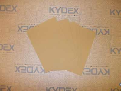 5 pieces KYDEX T SHEET 300 X 300 X 1.5MM  (P-1 HAIRCELL COYOTE BROWN )