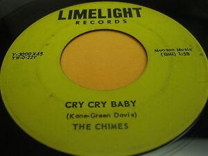 RARO-Doo-Wop-45-Las-campanadas-on-LIMELIGHT-3000-grito-grito-Baby-amp-ANGEL-NINOS