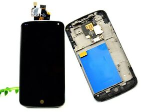 NERO-SCHERMO-VETRO-LCD-TOUCH-DIGITIZER-PER-LG-E960-GOOGLE-NEXUS-4-FRAME-RICAMBIO