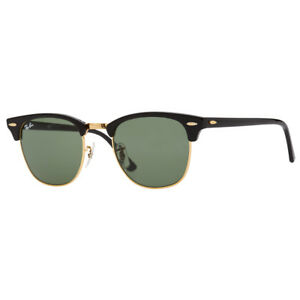 Ray-Ban-Clubmaster-RB3016-W0365-51mm-Black-Frame-Green-Lens-Sunglasses