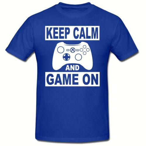 BOYS TEE SHIRT,GIFT KEEP CALM /& GAME ON BANNER CHILDREN/'S