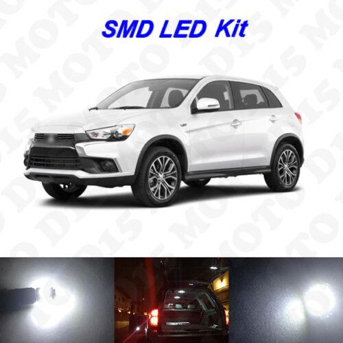 6x White LED Interior Bulbs License Plate Lights For 2011-2017 Outlander Sport
