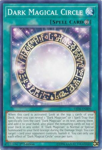 LED6-EN009 1st Edition Yu-Gi-Oh x3 Dark Magical Circle M//NM Common