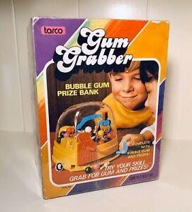 RARE-Vintage-1972-Tarco-GUM-GRABBER-Bubble-Gum-Bank-Toy-candy-container-10-70-s