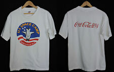 RARE Vintage US Space Camp NASA Coke Coca Cola T-shirt M USA Made Science Nerd