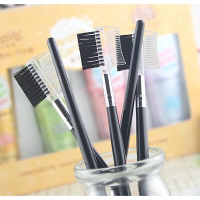 Eyebrow Eyelash Dual-Comb Extension Brush Comb Cosmetic Makeup Tool AB C
