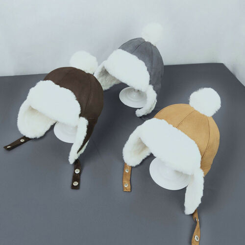 Baby Boys Girls Hat Kids Children Ear Flap Muff Winter Warm Plush Cotton Cap Art