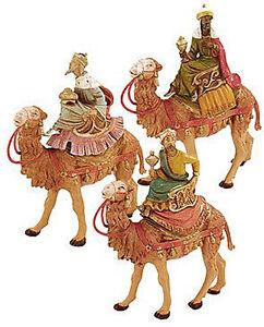 FONTANINI-NATIVITY-5-034-SCALE-THREE-KINGS-ON-CAMELS-WISE-MEN-MAGI
