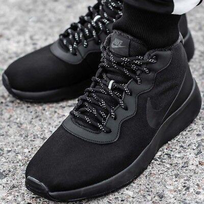NIKE TANJUN CHUKKA Sneaker chaussures hommes sport loisir noir basket 858655 001 | eBay