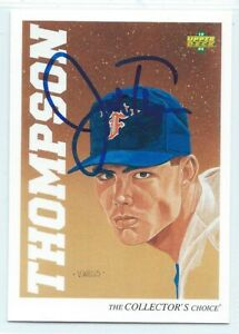 Justin Thompson signed 1992 Upper Deck Minors baseball Detroit Tigers rookie 2