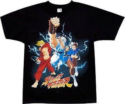 Street Fighter Ken Ryu Chun Li Trio Gamer Licensed Adult T Shirt Ebay