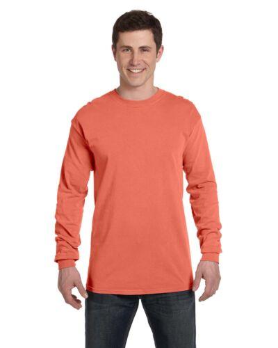 Comfort Colors Mens Garment Dyed Heavyweight Long Sleeve T Shirt 6014-C6014