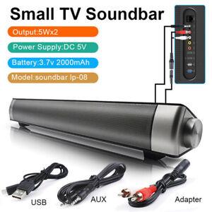 Wireless-Bluetooth-Small-TV-Soundbar-Speaker-AUX-Sound-Audio-Bar-Home-Theater