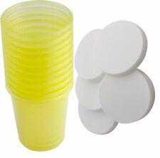 80 Stück Medikamentenbecher + 80 Deckel Medizinbecher Schnapsbecher Farbe: gelb