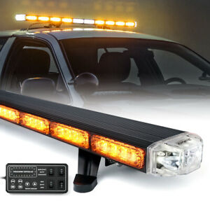 Details About Xprite 48 Led Roof Top Strobe Light Bar Emergency 12v Tow Snow Plow Truck Amber