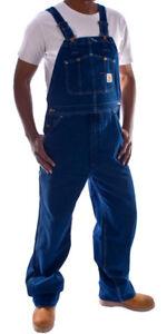 Carhartt-Peto-Vaquero-Azul-Stone-wash-hombre-Industriales-monos-ropa-trabajo