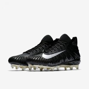 NIKE ALPHA MENACE ELITE FOOTBALL CLEATS MENS SIZE 10- BLACK SILVER 871519-001