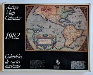 National Map Collection Canada Canada National Map Collection Antique Map 1982 Calendar w/ Box | eBay