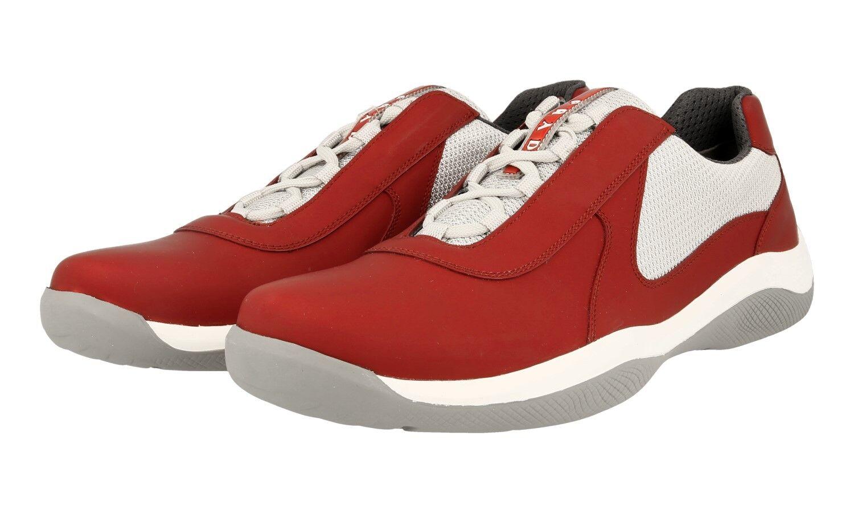 Luxe Prada Americas Americas Americas Cup Sneaker Chaussures 4e2905 rouge fixable Cuir 10 44 44,5 | Une Grande Variété De Marchandises  470e7b