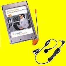 Sierra Wireless 860 PCMCIA Laptop Data Card+Voice Headset 2G/3G/UMTS/HSDPA/EDGE