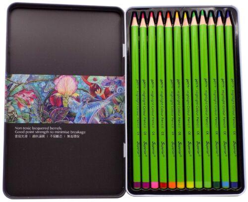 Artist Water Classic Metallic /& Highlight Colouring Pencils 12 36 /& 48 24