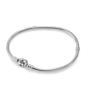 "3MM 925 Silver Snake Chains Bracelet fit European Beads 6.0""-9.0"""