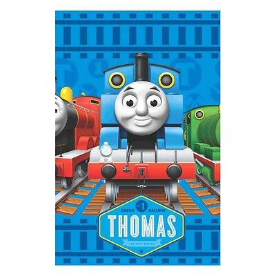 """96""""x 54"""" Thomas the Tank Engine Trains Birthday Party Plastic Table Cover"""