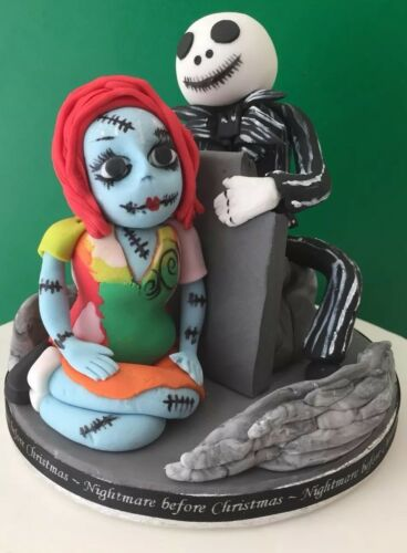 HALLOWEEN GOTH comestibles Nightmare Before Christmas cake topper