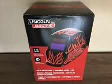 Lincoln Electric Auto Darkening Variable Shade Len Red Steel Helmetnew