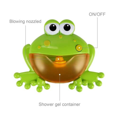 Bubble Machine Children Bubble Maker Bath Shower Toy Birthday Gifts Party Frog