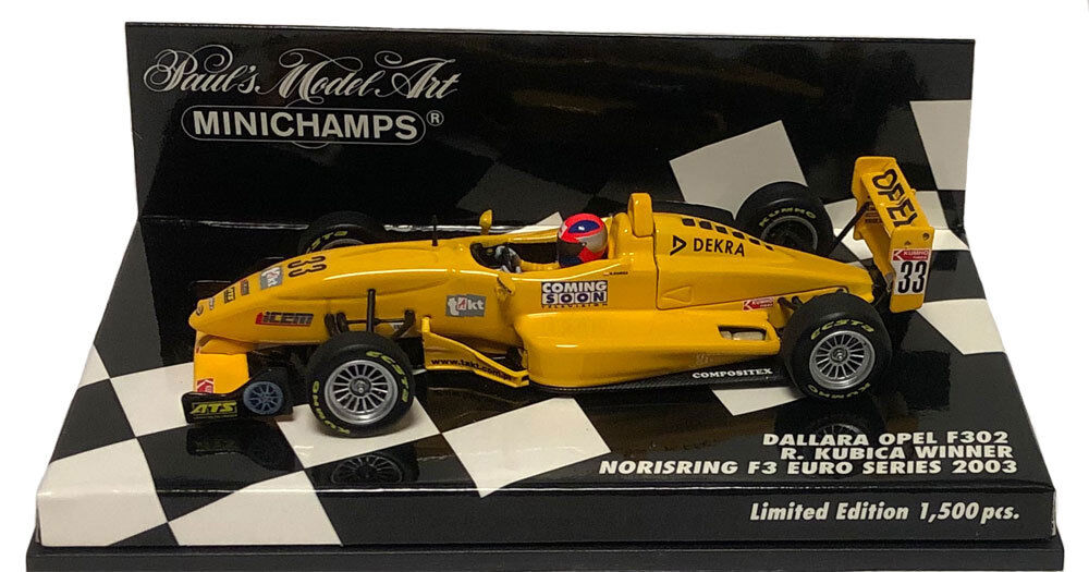 Minichamps Dallara F3 Norisring Euro Series 2003 - Robert Kubica 1 43 Scale