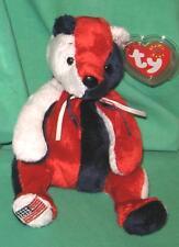 Patriot TY Beanie Baby Pot-Belly Teddy Bear USA America DOB May 29 2000 MWMT
