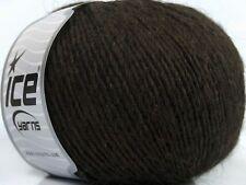 Peru Alpaca Light DK Yarn #38141 Dark Brown Ice 50gr 191yds Alpaca, Merino Wool