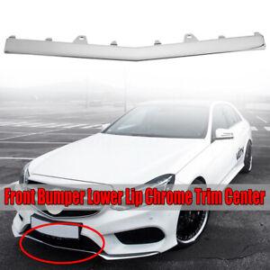 Pour-Mercedes-W212-Classe-E-Sport-Avant-Pare-Choc-Centre-Chrome-Bord-Moulure-Lip