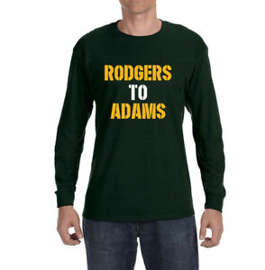 15e34659 Green Bay Packers Aaron Rodgers To Davante Adams Long sleeve Shirt ...
