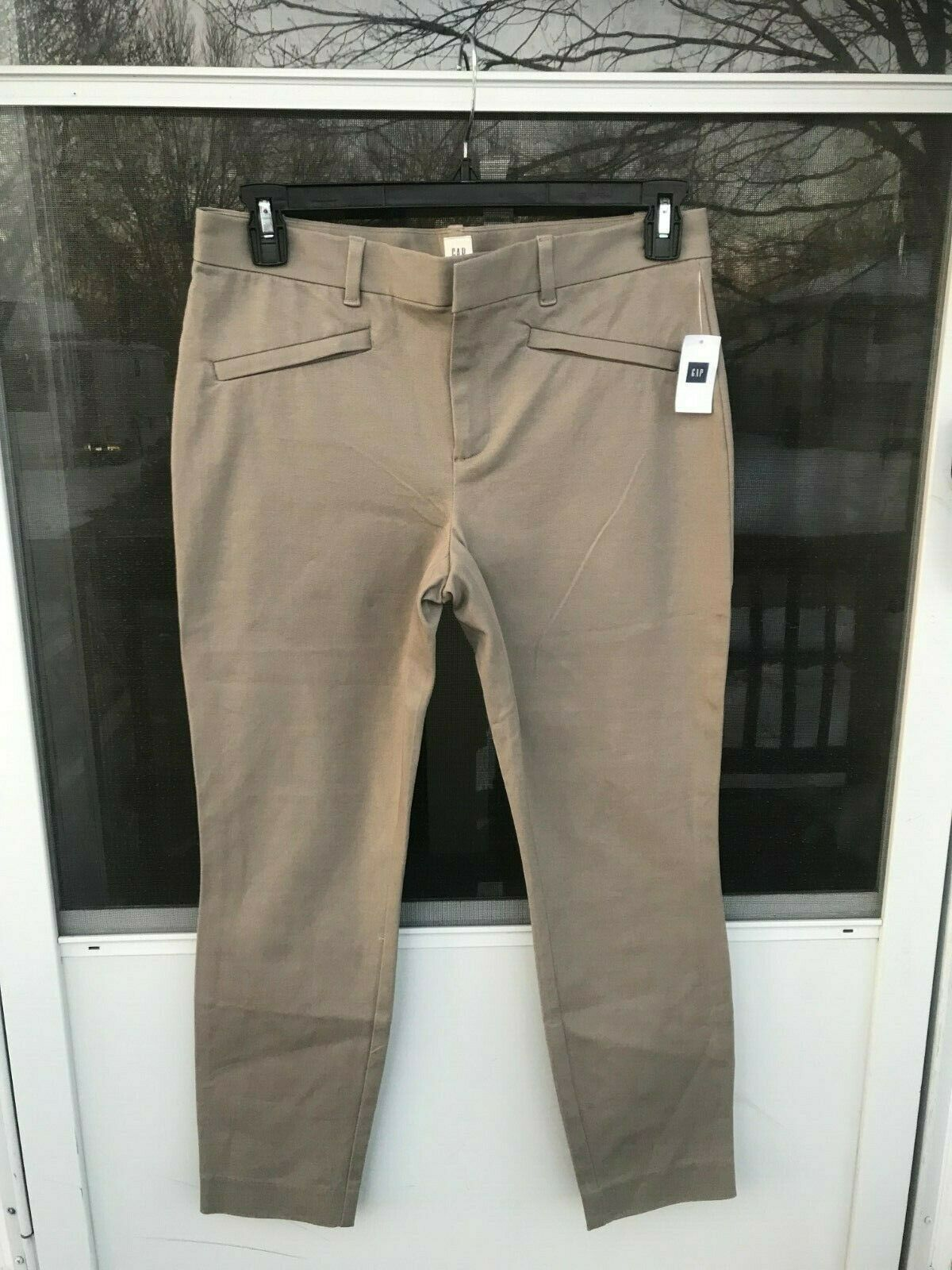 Women's GAP Skinny Ankle Pants taupe STRETCH NWT Size 10R