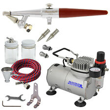 PAASCHE HS Single-Action AIRBRUSH SET w/AIR COMPRESSOR