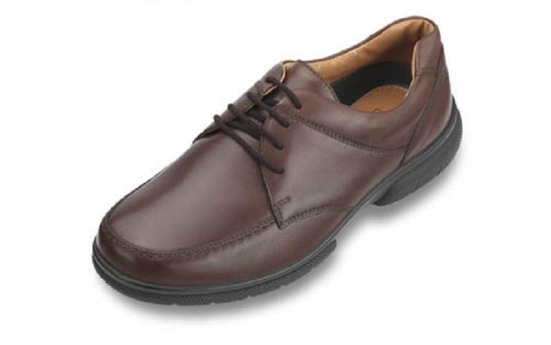 DB zapatos Muy Ancho Morgan Marrón Gibson Encaje Zapatos (4e Fit ), Talla uk14