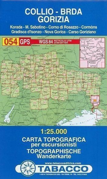 Tabacco Wandern 1 : 25 000 Collio - Brda - Gorizia (2000, Karte)