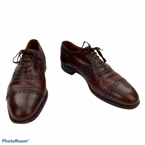 New & Lingwood Mens Dress Oxfords Brown Leather Ca