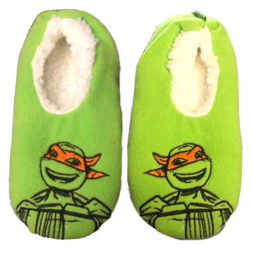 Nickelodeon Teenage Mutant Ninja Turtles Slipper Non-skid Sox S M 8-13 New